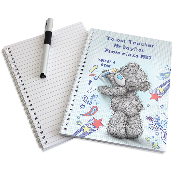 Personalised Me to You Tatty Teddy Teacher A5 Notebook