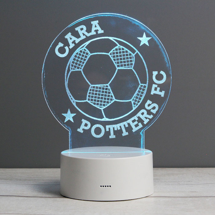 Personalised Football LED Colour Changing Night Light