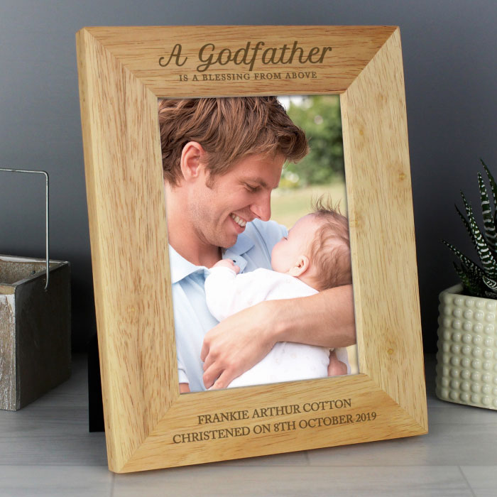 Personalised Godfather Wooden 5x7 Inch Photo Frame