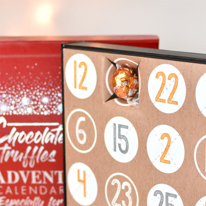 Personalised Lindt Truffles Chocolate Advent Calendar Box