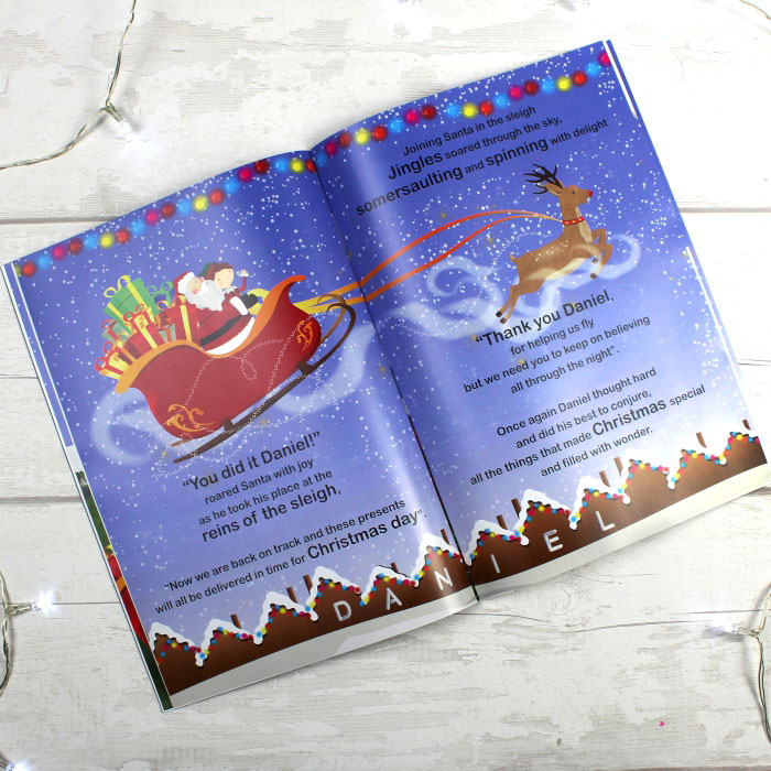 Personalised Boys Its Christmas Story Book