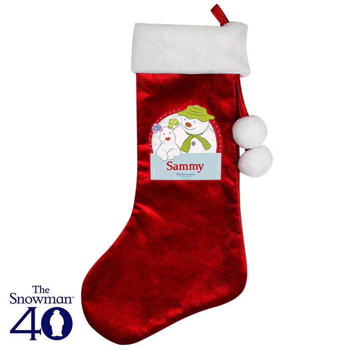 Personalised The Snowman and the Snowdog Christmas Stocking