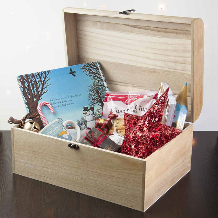 Personalised Christmas Eve Box With Holly Wreath