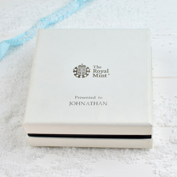 Silver Proof Peter Rabbit 50p in a Deluxe Personalised Box