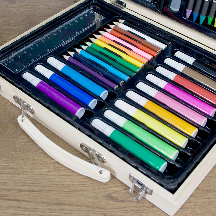 Personalised Rainbow Unicorn Colouring In Art Set
