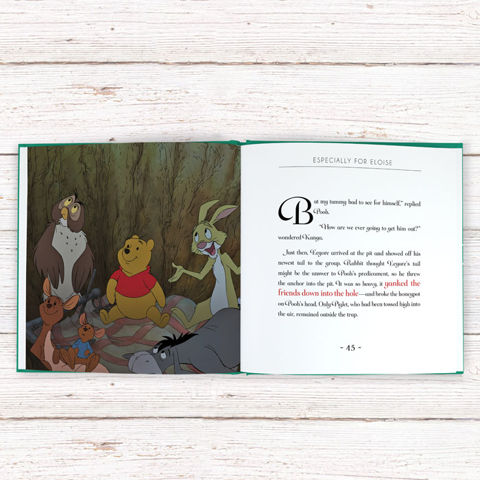 Personalised Timeless Winnie the Pooh Book