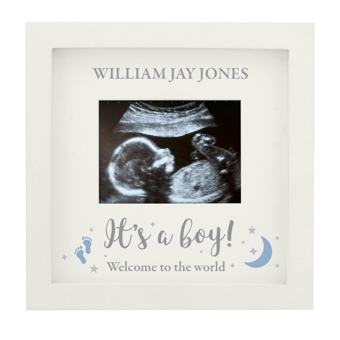 Personalised Its A Boy 4x3 Inch Baby Scan Photo Frame