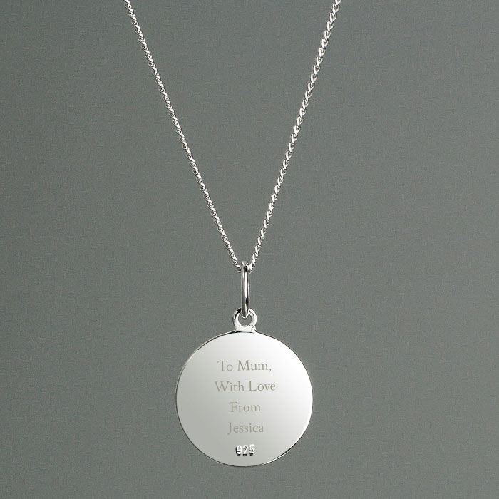 Personalised Silver & 9ct Gold St Christopher Necklace