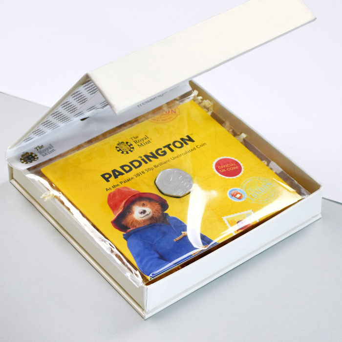 Uncirculated Paddington 50p Coin In A Personalised Gift Box