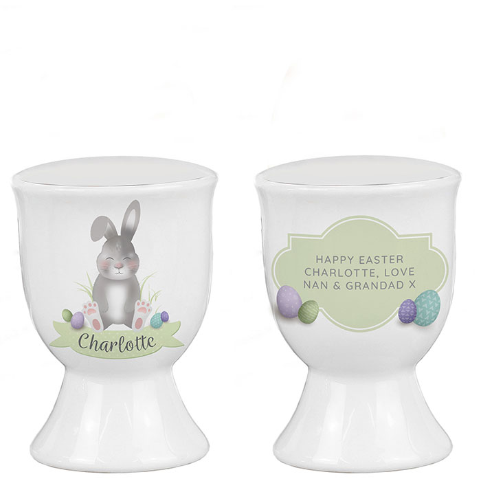 Personalised Cute Easter Bunny Egg Cup