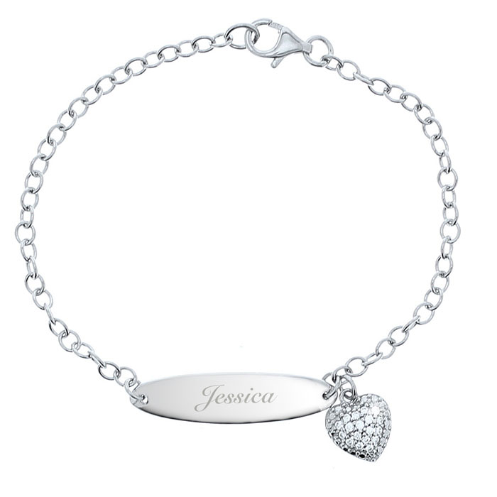 Personalised Silver and Cubic Zirconia Name Bracelet