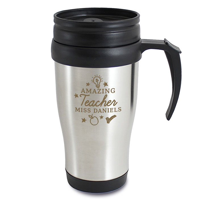 Personalised Amazing Teacher Travel Coffee Mug