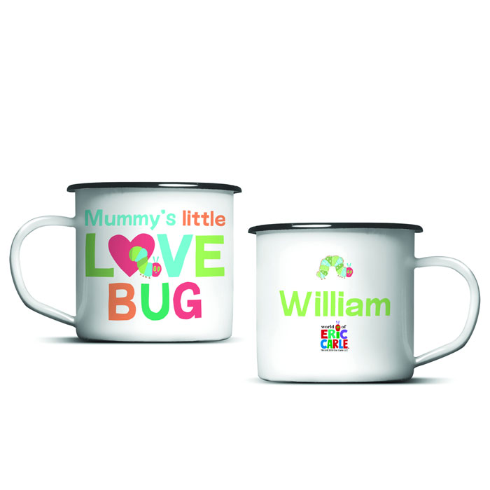 Very Hungry Caterpillar Love Bug Personalised Enamel Mug