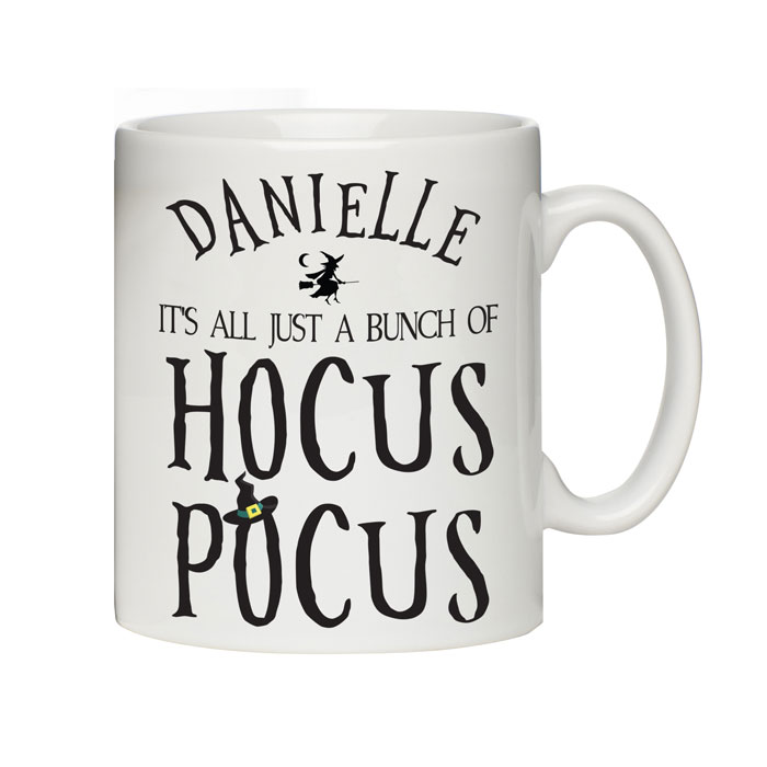 Personalised Childrens Halloween Hocus Pocus China Mug
