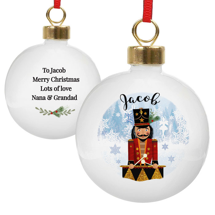 Personalised Nutcracker China Christmas Tree Bauble