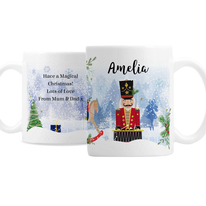 Personalised Childrens Ceramic Nutcracker Christmas Gift Mug