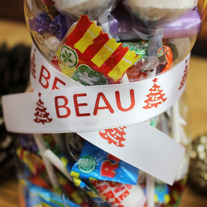 Personalised Christmas Snowman Sweet Jar Vegan Friendly