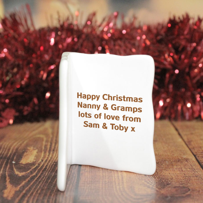 Personalised Rudolph the Red Nosed Reindeer Message Card