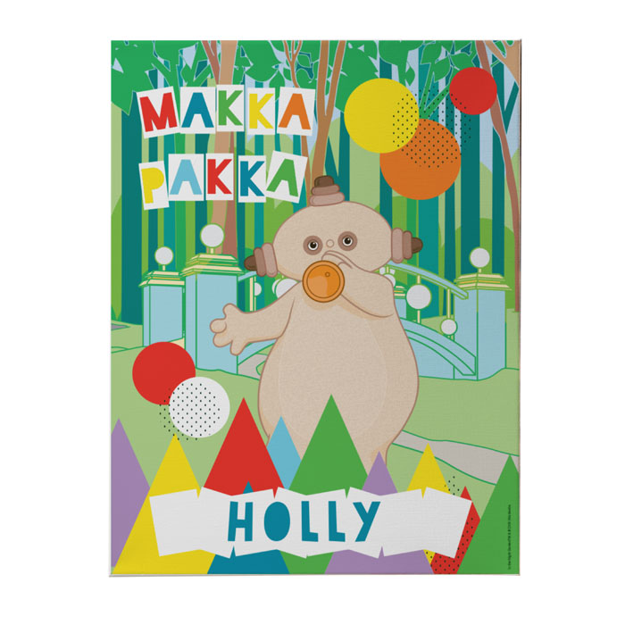 Personalised In The Night Garden Makka Pakka Canvas