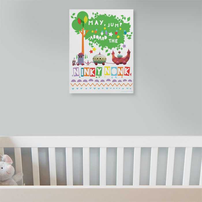 Personalised Night Garden Ninky Nonk Name Canvas