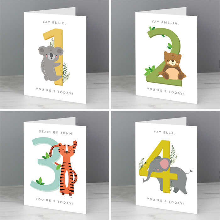 Personalised Animal Themed Childrens Birthday Card