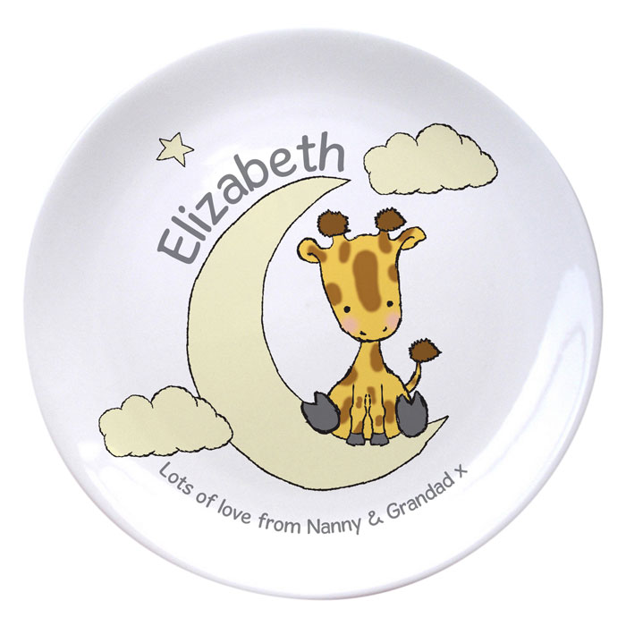Personalised Sweet Dreams Giraffe Bone China Plate