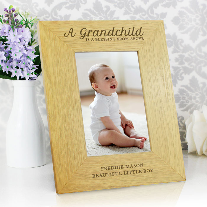 Personalised A Grandchild Is A Blessing 6x4 Frame