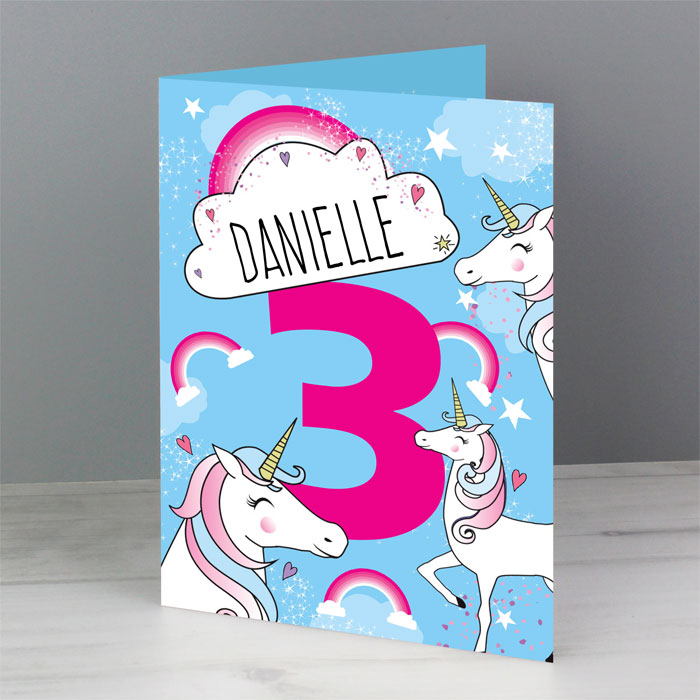 Personalised Unicorn Any Age Card