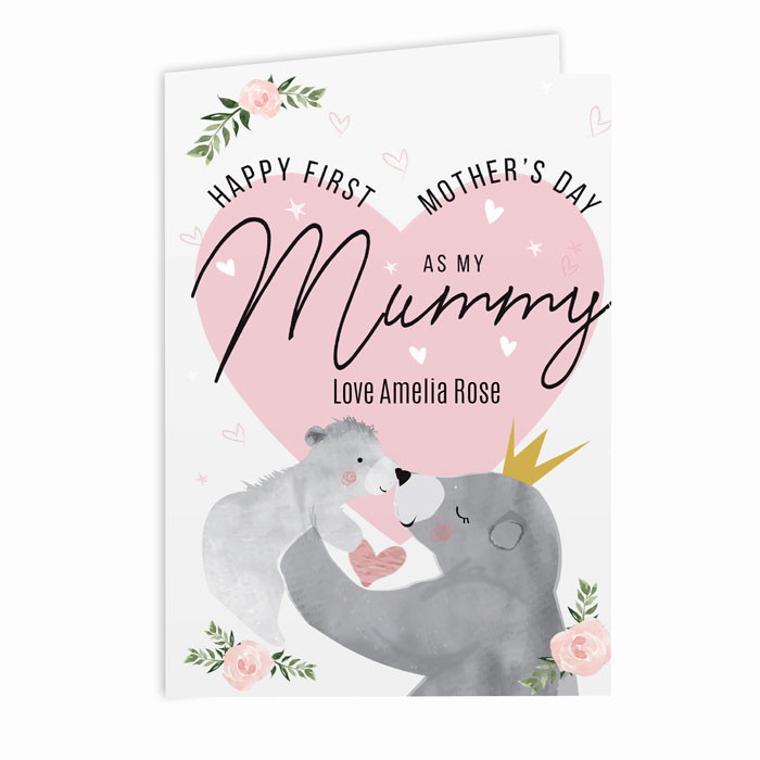 Personalised 1st Mothers Day Mama Bear Card