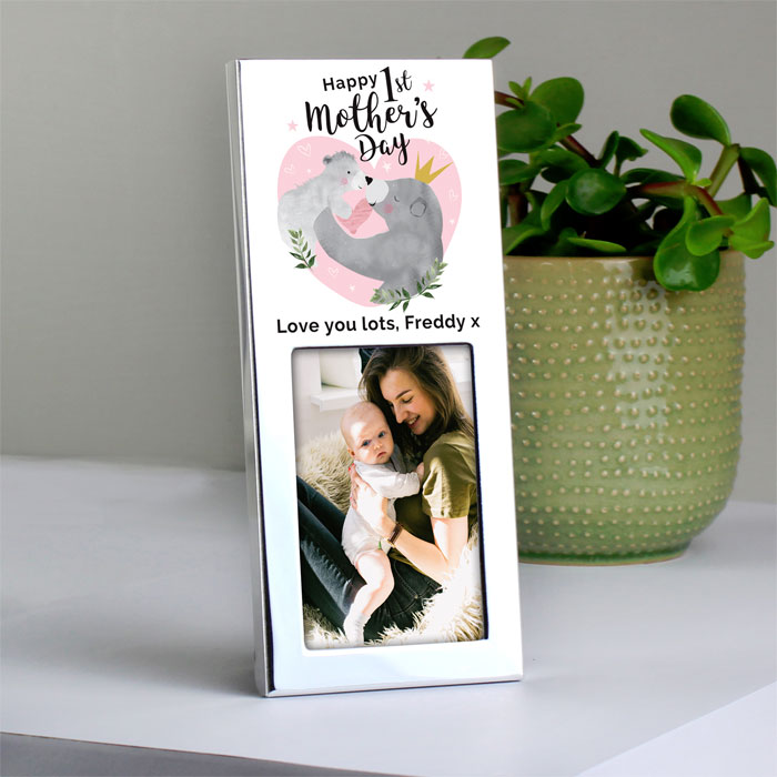 Personalised 1st Mothers Day Mama Bear Photo Frame