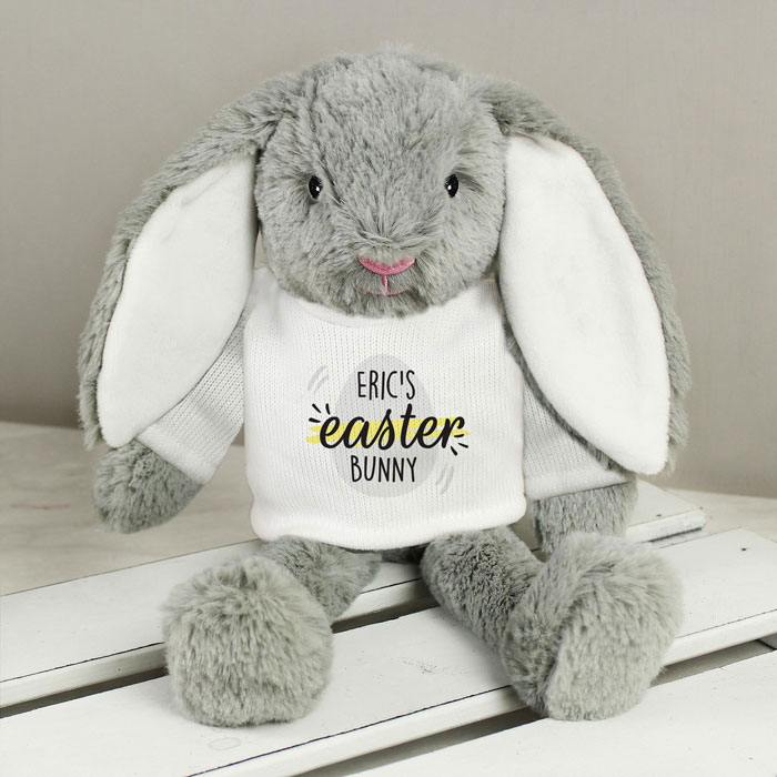Personalised Easter Bunny Rabbit In Tee Shirt