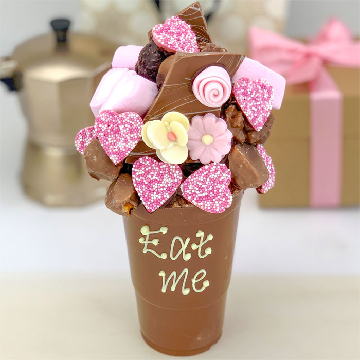 Floral Belgian Chocolate Smash Cup
