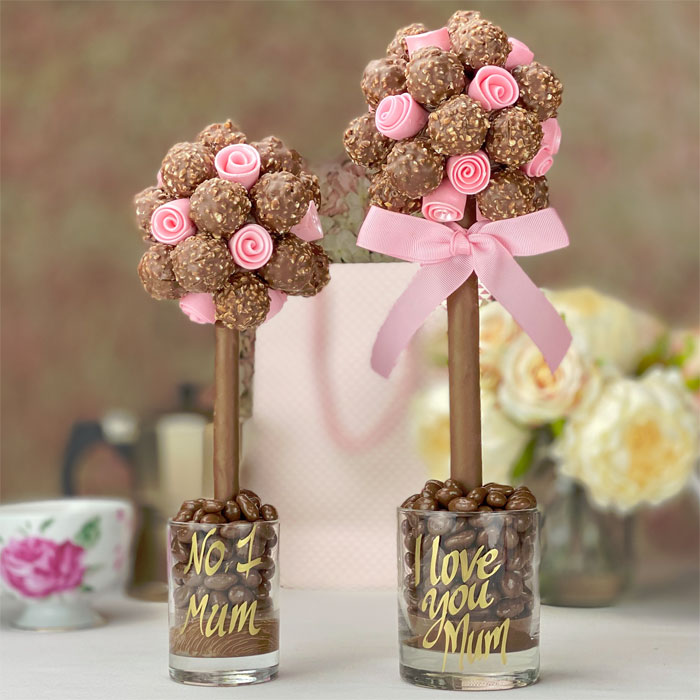 Ferrero Rocher Sweet Tree with Edible Pink Roses
