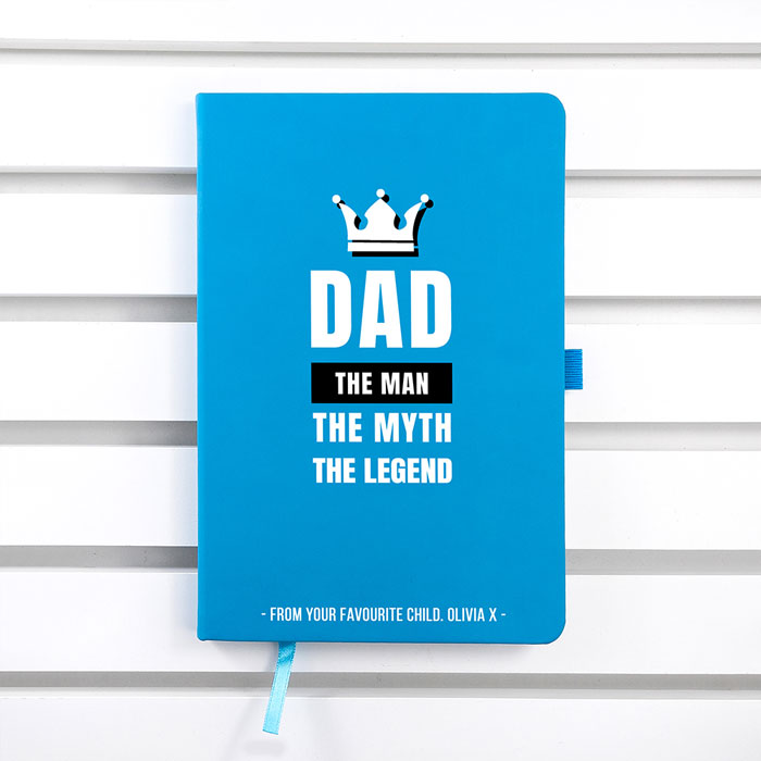 Personalised Dad The Legend A5 Notebook