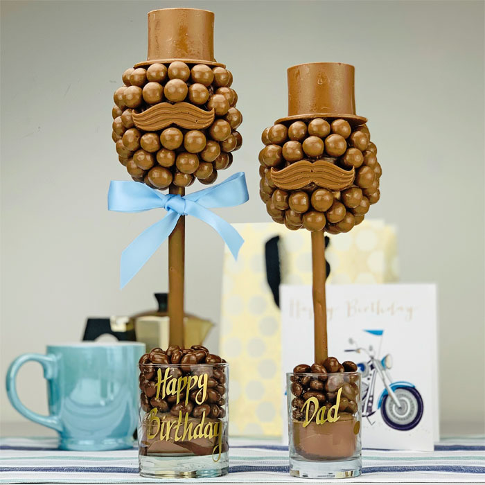Personalised Malteser Hat and Moustache Sweet Tree