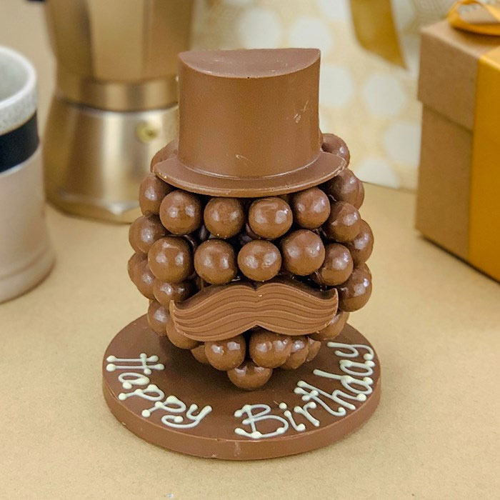Personalised Malteser Head with Hat & Moustache