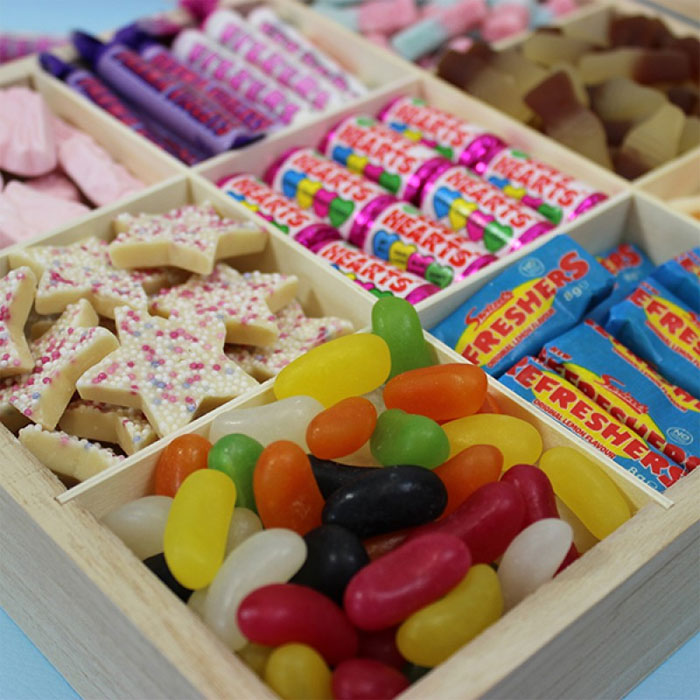 Personalised Great British Retro Sweets Box