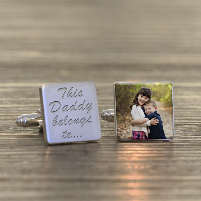 This Daddy Belongs To Photo Cufflinks