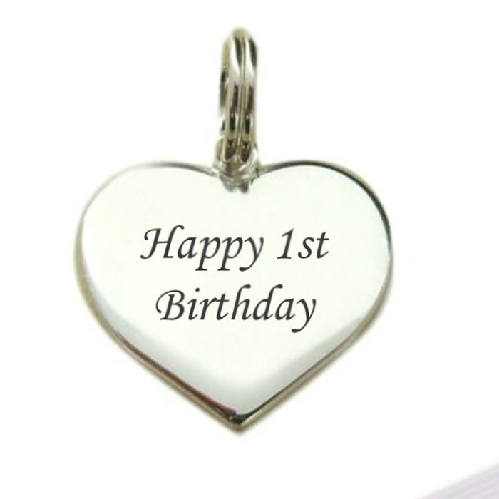 Large Sterling Silver 1st Birthday Charm