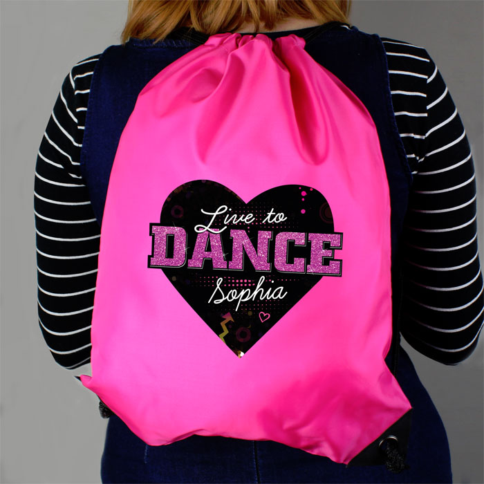 Personalised Live to Dance Pink Kit Bag