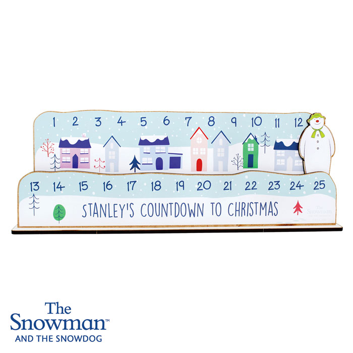 Personalised Make Your Own The Snowman Christmas Countdown