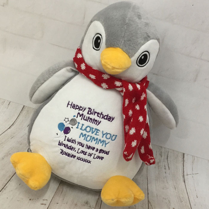 Personalised Mumbles Penguin Teddy Soft Toy