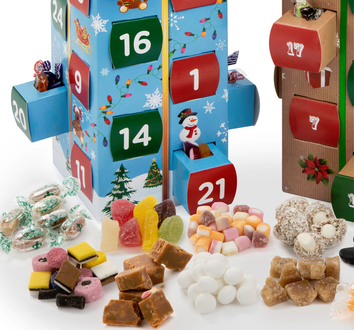 Kids Advent Calendar Box With Sweets & Fudge