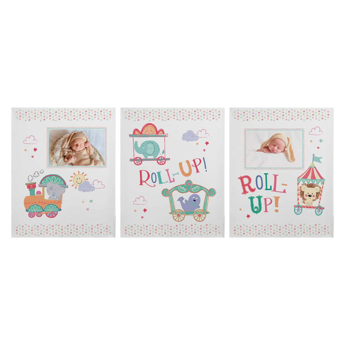 Tiny Tatty Teddy Little Circus Set of 3 Canvases