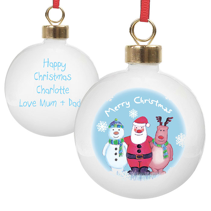 Personalised Christmas Trio Tree Bauble