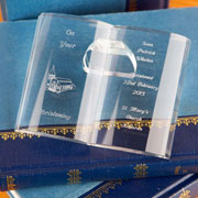 Engraved Crystal Baptism, Christening or Communion Bible