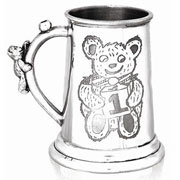 Childrens First Birthday Pewter Tankard Mug