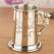 Childs Pewter Tankard Grandson Gift