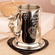 Personalised Engraved Pewter Godchild Christening Tankard