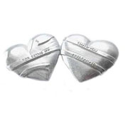 Bridesmaids Thank You Heart Token
